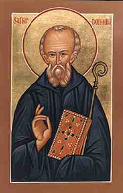 The new Icon of St Columbanus
