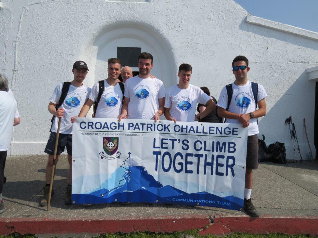 QUB Knights on Croagh Patrick
